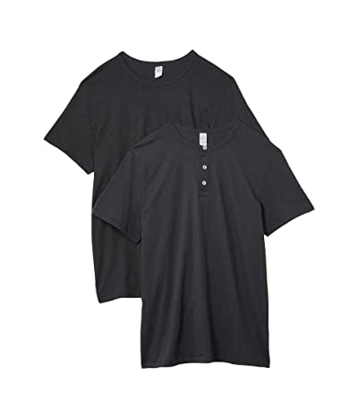 Alternative Slub Tee 2-Pack Wardrobe Bundle Crew and V-Neck