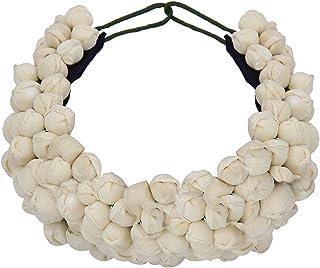 Sanjog Women White Hair Accessory - Juda Maker Flower Gajra (White)