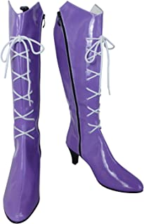 Hotaru Tomoe Sailor Saturn Cosplay High Heels Party Shoes Leather Boots
