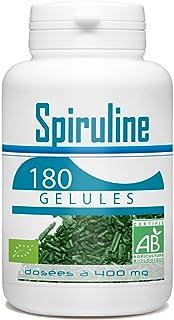 spiruline Bio–400mg–180Cápsulas vegetales