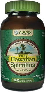 Pure Hawaiian Spirulina-1000mg Tablets Spearmint 180 Count - Natural Premium Spirulina from Hawaii - Vegan, Non-GMO, Non-I...