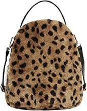 Clearance!! ZOMUSAR Women Girl Corduroy Leopard Print Bag Student Satchel Travel School Backpack