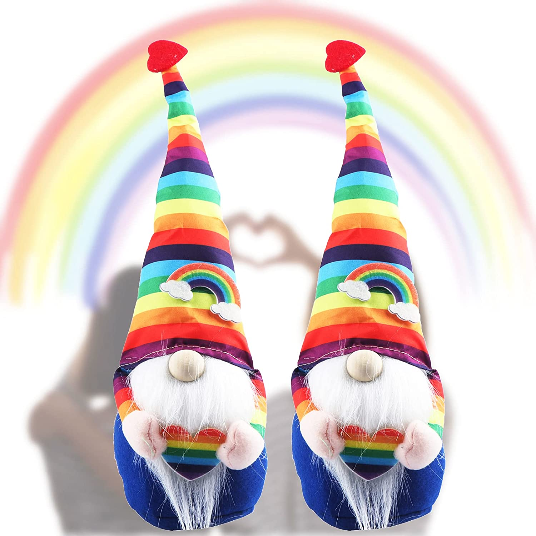 Vanproo 2Pcs LGBTQ It is very Ranking TOP11 popular Gay Pride Rainbow Plush T Scandinavian Gnomes