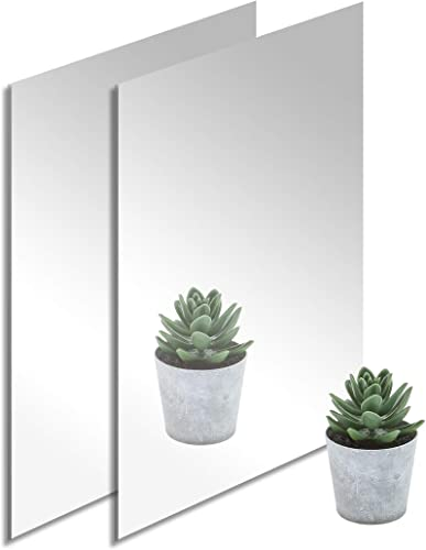 high quality (2-Pack) 12'' x 24'' Silver Mirrored Acrylic – 2021 1/8'' Thick; Perfect for Decorative Furniture, Craft Projects, Signs and outlet sale More; The Unshattered Substitute for Glass Mirror, Safe for Children and Adults online
