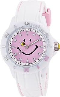 [スマイリー]SMILEY 腕時計 ステッチシリコン ホワイト×ピンク WC-HBSIL-WPPL 【正規輸入品】