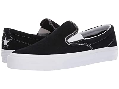 Converse One Star CC Slip Core Slip (Black/White/White) Slip on Shoes