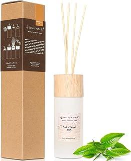 Aroma Naturals Duftstäbchenset   200 ml   Bis zu 6 Monate Duft, mit Holzdeckel Darjeeling Tee