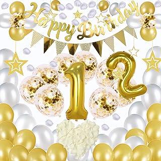 Jiudam 誕生日 飾り 風船 セット HAPPY BIRTHDAY 装飾 数字バルーンゴールド バースデー ガーランド バースデー パーティー 誕生日 飾り付け