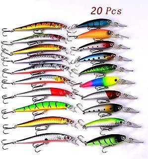 20 56Pcs Bait Fishing Lures Set Topwater Carp Fishing Bait Kit Tackle Suit Sale Artificial Hard Bait Minnow Fish Lure Set