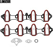LIMICAR Intake Manifold Gasket MS92211 MS18007 MS4657 Compatible with Chevrolet GMC Hummer 5.3L 4.8L 02-03 Cadillac Escalade 5.3L 01-03 GMC Sierra 1500 HD 6.0L 01-02 GMC Yukon 6.0L