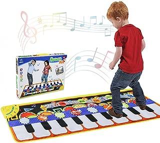Tencoz Musical Piano Mat 19 Keys Piano Keyboard Play Mat Portable Musical Blanket..