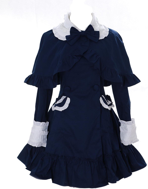 JL-660 Cape Übergangs-Jacke Trenchcoat dunkel-blau Victorian Kostüm Gothic Lolita Jacket Cosplay Kawaii-Story (XXL) B07C95M5L8 Deutschland  | Modern