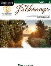 Hal Leonard Folk Songs For Violin Instrumental Play-Along Book/CD