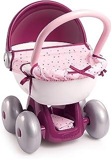 Smoby - Baby Nurse dockvagn – liten dockvagn för dina rybbar upp till 42 cm, med tvättbart tygskydd och solskydd, för barn...