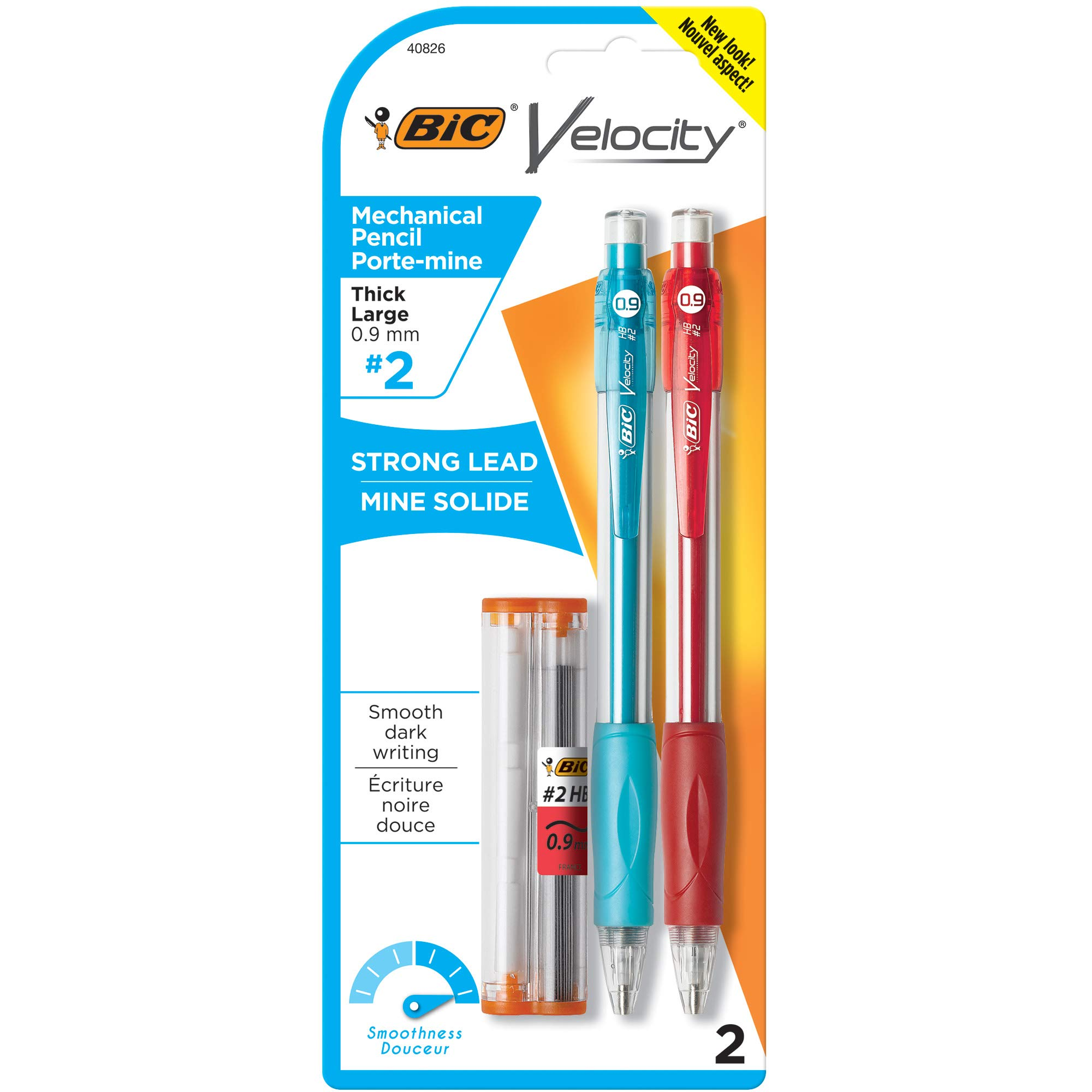 BIC Velocity Original Mechanical Pencil, Thick Point (0.9mm), 2-Count