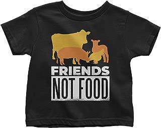 LeetGroupAU Animal are Friends Not Food Vegan Diet Fan Toddler T-Shirt