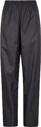 Mountain Warehouse Pakka Womens Waterproof Overtrousers - Packaway Bag, Breathable Rain Pants, Hook & Loop Ankle Opening Ladies Trousers - for Wet Weather, Travelling