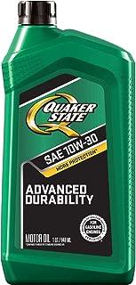 Quaker State Advanced Durability Conventional 10W-30 Motor Oil (1-Quart, Case of 6)