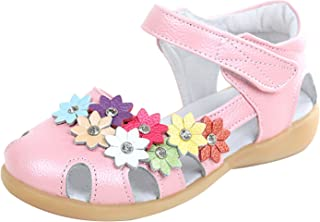 [コ-ランド] 子供靴 女の子 お嬢様 シューズ サンダル 花飾り 可愛い ガールズ 柔らかい 通園 通学 おしゃれ 演奏会