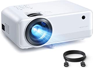 Mini Projector, APEMAN 6000 Lumen 1080P Supported Projector, 200'' Display 50000 Hrs LED Life, Dual Speakers Portable Proj...