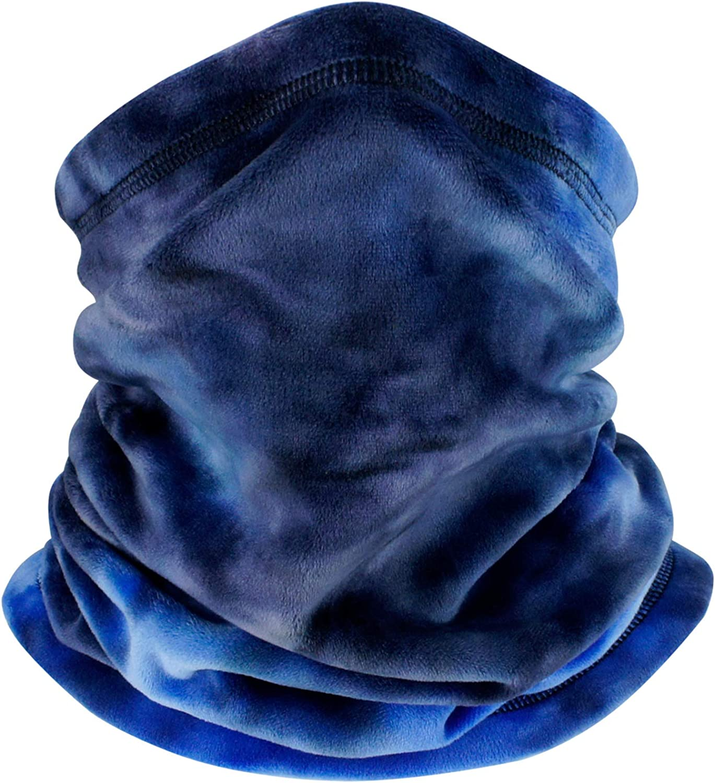B BINMEFVN Cold Weather Face Mask Neck Warmer for Men Women - Fleece Winter Neck Gaiter Face Cover