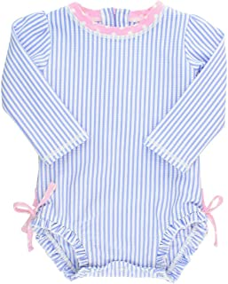 Baby/Toddler Girls Long Sleeve One Piece Swimsuit - Blue...