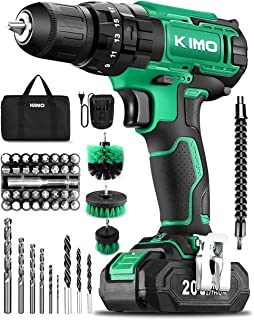"""KIMO Cordless Drill Set, 20V Cordless Drill with Battery and Charger & Cleaning Brush, 350 In-lb Torque, 3/8"""" Keyless Chuc..."""