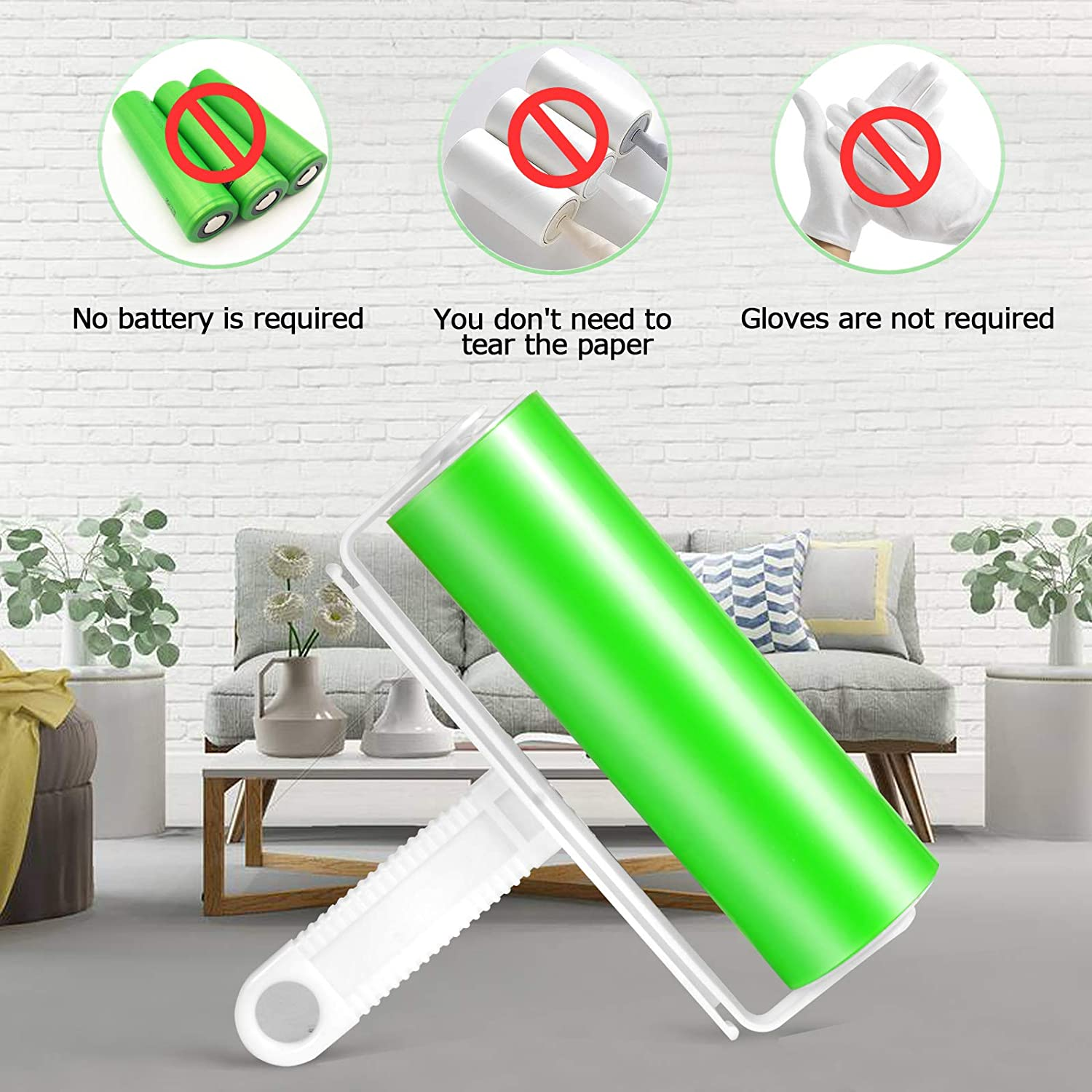 Cat Hair Remove Dog 1L+2s and More. Pet Hair Remover /& Lint Roller Carpets Bedding Blue and Fuzz from Furniture Clothing