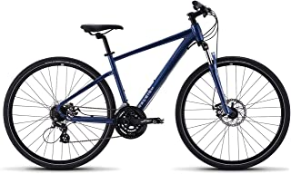 Bikes Route 1 Hybrid Bike with 700C Wheels, Blue