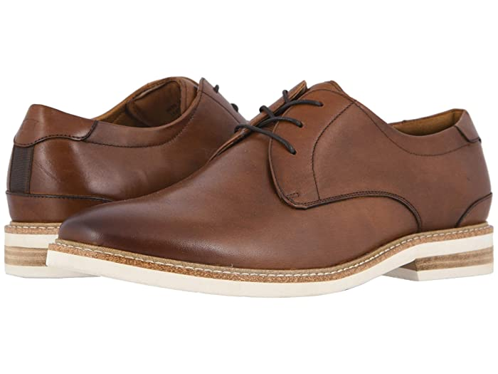 Florsheim  Highland Plain Toe Oxford (Cognac Smooth/White Sole) Mens Shoes