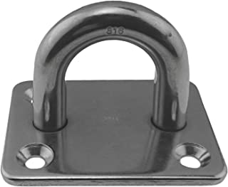 Stainless Steel 316 Square Pad Eye 3/8