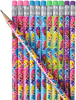 Kicko 7.5 Inches Assorted Mermaid Pencil - 24 Pieces - Party Needs - Loot Bags - Party Bags - Ideas - School Rewards Assortments May Vary
