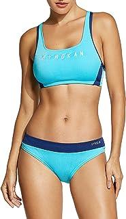 SYROKAN Mujer Deportivo Bañador Bikini Traje de baño Dos Piezas con Relleno