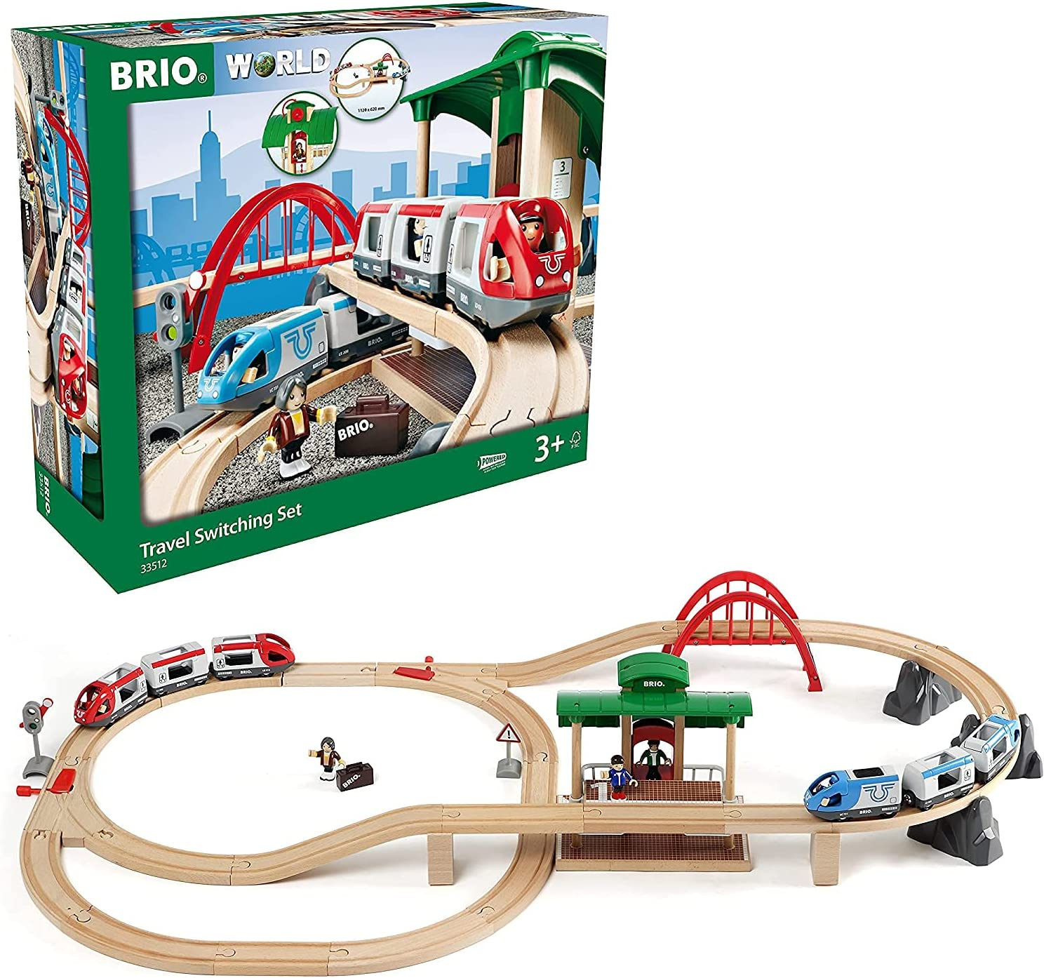 BRIO World - 33512 Travel Switching wit Piece Set New products, world's highest quality popular! Year-end gift Train 42 Toy