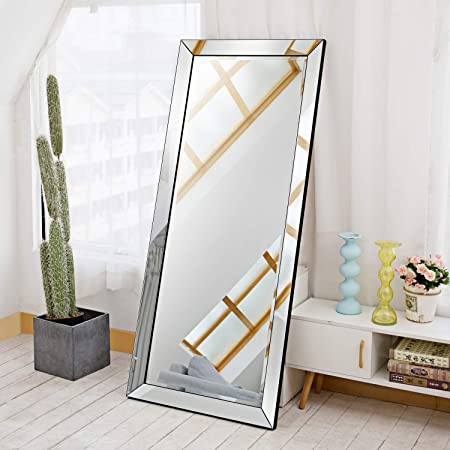 Gold OGCAU Full Length Floor Mirror Wall Mirror Standing Hanging or Leaning Against Wall for Bedroom Wall-Mounted Mirror for Bedroom Living Room Large Archway Mirror Sleek Arched-Top Mirror