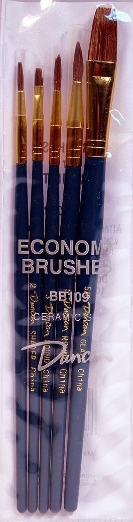 Duncan Ceramics 5 Piece Economy Ceramic Brush Set BB109