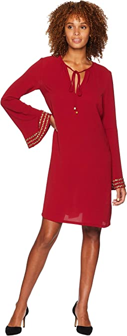 Bell Sleeve Heat Transfer Dress