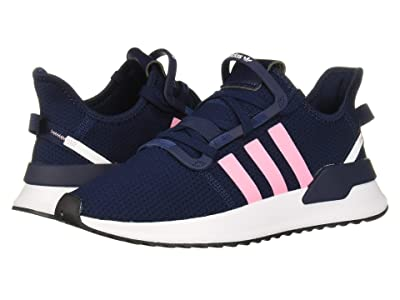 adidas Originals Kids U_Path Run J (Big Kid) (Navy/Light Pink/White) Girls Shoes