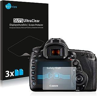 savvies Protector Pantalla Compatible con Canon EOS 5D Mark IV (6 Unidades) Pelicula Ultra Transparente