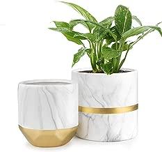 HOMENOTE White Ceramic Flower Pot Garden Planters 6