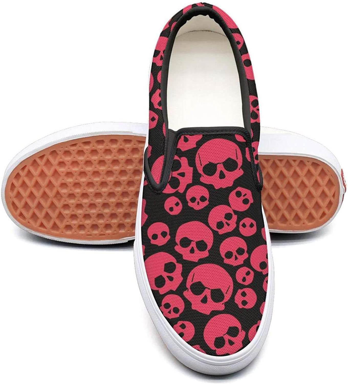 Cool Skull (2) Slip On Canvas Upper Sneakers Canvas shoes for Women Fashion
