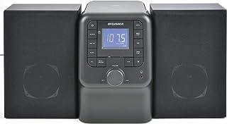 SYLVANIA SRCD2732BT-BLACK Bluetooth Micro System with FM Radio and CD Player (Black) (Renewed)