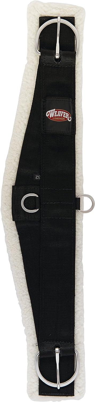 Weaver Leather 352386BK28 Merino Wool Lined Roper Cinch