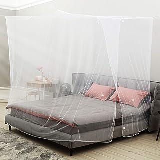 king size Lanilianhuqa Ciel de lit moustiquaire pour lit simple filet de rideau avec entr/ée sans produits chimiques ajout/és sac de rangement 1 installation facile trous fins double 335 inch