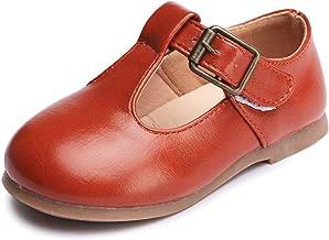 Minibella Boy's Girl's T-Strap School Uniform Shoes Kids Dress Mary Jane Flats