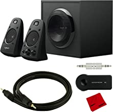 Logitech Z623 THX Certified Speaker System w/Subwoofer and Pro Bluetooth Cable Bundle
