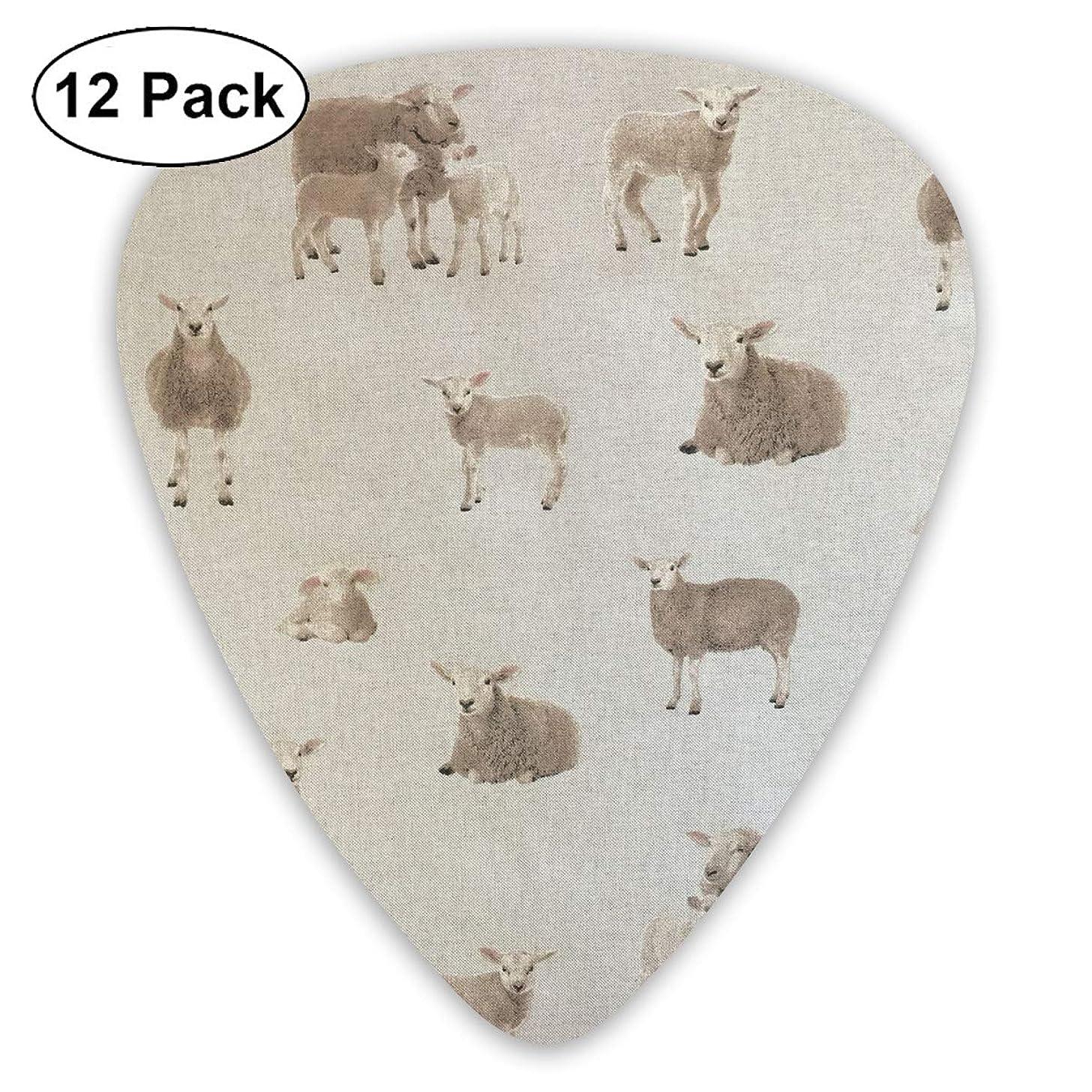 351 Shape Classic Guitar Picks Animal Sheep Plectrums Instrument Standard Bass 12 Pack