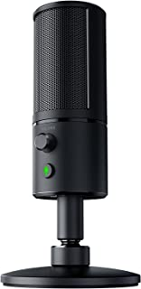 Razer Seiren X: Supercardioid Pick-Up Pattern - Condenser Mic - Built-In Shock Mount - Professional Grade Streaming Microphone
