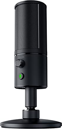 Razer Seiren X USB Streaming Microphone - [Professional Grade][Built-In Shock Mount][Supercardiod Pick-Up Pattern]