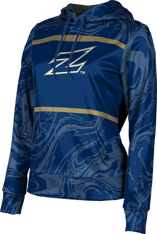 ProSphere University of Akron Girls' Pullover Hoodie, School Spirit Sweatshirt (Ripple)